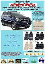 Sheepskin Car Seat Covers For Toyota Prado 120 Series 03-09 Pr 22MM AirbagSafe