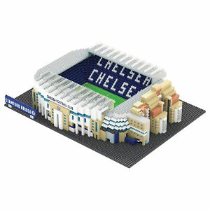 Kitbag Chelsea Brxlz Stadium Football 3D Construction Toy Building Set Kit