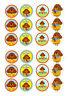 24 HEY DUGGEE CUPCAKE TOPPER WAFER RICE EDIBLE FAIRY CAKE BUN TOPPERS