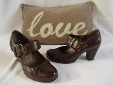Gabor Block Casual 100% Leather Upper Heels for Women