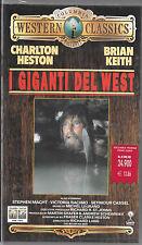 I GIGANTI DEL WEST con Charlton Heston - VHS NUOVA
