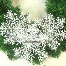 HOT Sale White Snowflake Ornaments Festival Christmas Home Decor Christmas 10pcs