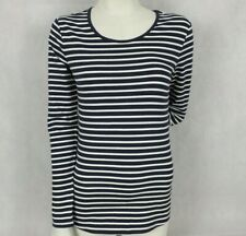 Womens Target Size XS 6 8 Top Navy Blue White Stripe Long Sleeve Tee BNWT