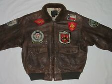 *AVIREX FLIEGER PILOTEN LEDERJACKE*TYPE G1*TOP GUN*AIR FORCE*BRAUN*GR: M*TIP TOP