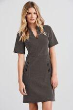 Next Monochrome Spot Jacquard Dress 14Tall