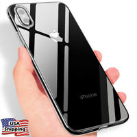 For iPhone X Ultra Slim Rubber Crystal Clear Shockproof Soft TPU Case Cover Skin