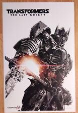 Movie Poster Promo Transformers The Last Knight Optimus Prime