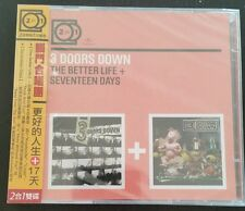 3 Doors Down The Better Life + Seventeen Days 2 for 1 Taiwan release with OBI