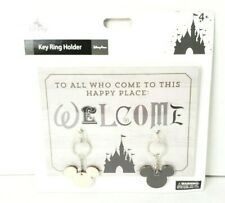 Disney Parks Castle Mickey Mouse Hanging Welcome Quote Key Ring Holder Wall