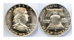 1950 50C PR65CAM ICG-100% WHITE NICE L@@KING- FRANKLIN HALF DOLLAR