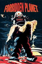 FORBIDDEN PLANET ~ ROBBY CARRYING 24x36 MOVIE POSTER Robot Anne Francis