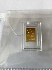 Pure Gold 1G Gram 24 Carat Gold Bar 999.9 Pure Gift Investment FREE P&P