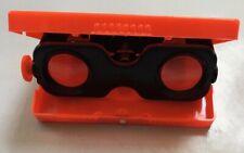 Vintage Child's Red Plastic Toy Flip Up Binoculars: 57-555 Made in Hong Kong