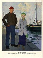 Erich Wilke An der Waterkant * Paul Rieth Liebesfrühling Histor.Kunstdrucke 1913