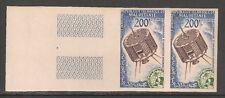 Mauritania #C25 VF MNH IMPERF PAIR - 1963 200fr Tiros Satellite & Emblem Of WMO
