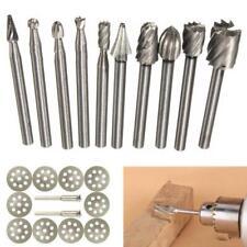 10Pcs Tungsten Carbide Metal Cutting Carving Grinding Burr Set For Dremal Tool