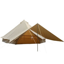 6M w/ Sun Canopy Bell Tent Waterproof Cotton Canvas Family Glamping Yurts Tents