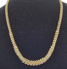 RARE ESTATE VINTAGE SOLID 10K YELLOW GOLD 1 + CT GENUINE DIAMOND NECKLACE CHAIN