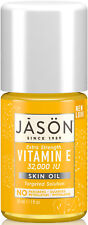 JASON VITAMIN E SKIN OIL 30ml 32000iu - NO PARABENS/ARTIFICIAL COLOURS/FRAGRANCE