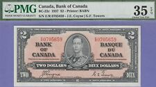 Canada 2 Dollar's Banknote 2.1.1937 Choice Very Fine Graded-PMG-EPQ Cat#BC-22C