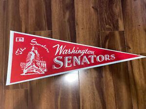 MLB The Washington Senators Vintage Defunct 1980's Reproduction Baseball Pennant