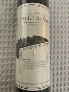 """Kitchen Papers Black Chalkboard Table Runner Wrapping Paper 30""""x 50' Roll"""