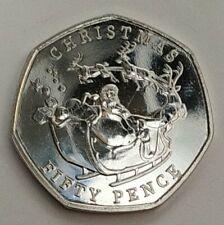 Nueva!! Exclusiva Monedas 50p Gibraltar christmas año 2020