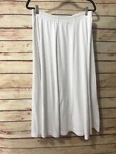 Units Women's Size Small WHITE Full Skirt Long Modest Elastic Waist Heavyweight
