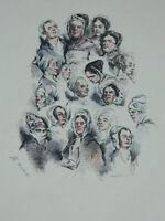 Incisione Solleva Colori I Tenuto Monnier Da Bennett 1841