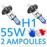 2 AMPOULE LAMPE HALOGENE FEU PHARE XENON GAZ SUPER WHITE H1 55W 6500K 12V