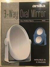 3 Way White Magnifying Vanity Cosmetic Table Mirror New