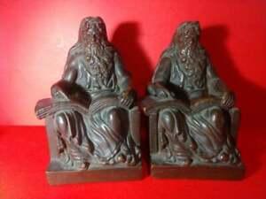 ANTIQUE WISDOM GREEK SOCRATES BOOKENDS ARTBRONZE