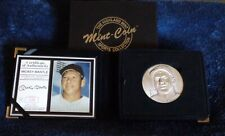 MICKEY MANTLE NY YANKEES HIGHLAND MINT MAGNUM COIN SERIES 4 OZT 999 SILVER ROUND