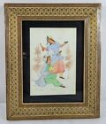 Vintage Signed Persian Painting Of Couple Celebrating