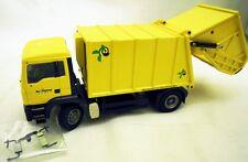 Conrad 6639/0: MAN TGA Haller X2 Müllfahrzeug in gelb, 1/50, NEU & OVP - selten