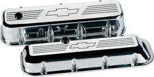 BILLET SPECIALTIES CHEVY BOWTIE POLISHED ALUMINUM BBC TALL VALVE COVERS