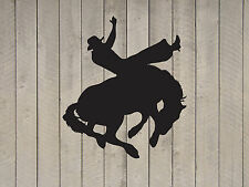 "Cowboy Western Rodeo Horse Vinyl Sticker Decal 22""h x 22""w"