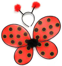Great Pretenders Kids Ladybug Wings with Headband Costume - One Size - C312