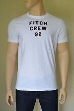 Nueva Abercrombie & Fitch Big diapositiva Montaña Blanco destruido Tee Camiseta Xl RRP £ 68