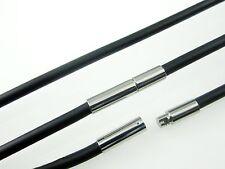 Kautschukkette mit Bajonettverschluss/Edelstahl Ø 4 mm  verschiedene Längen