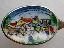 Butterfield Pacific Mail Tipton, Mo. Stagecoach Sterling Enamel Spoon Rare!