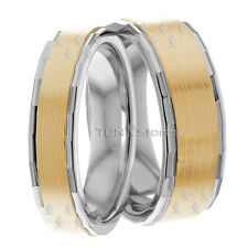 14K GOLD MATCHING HIS & HERS WEDDING BANDS RING MENS WOMENS SET 7MM & 5MM