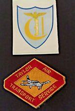 Vintage Taylor Air Transport Service Embroidered Mechanics Uniform Patch + Extra