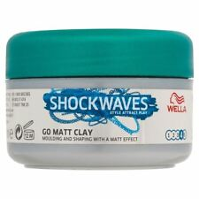 Wella Shockwaves Ultimate Effects Texture Go Matte Clay (75ml) - Pack of 2