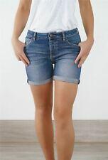 Womens Fat Face Shorts Premium Denim Blue Classic Summer Holiday Beach Size 8