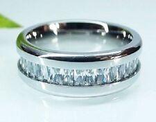 Cubic Zirconia Wedding & Anniversary Bands with Gemstones