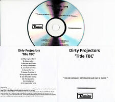 DIRTY PROJECTORS Title TBC/Swing Lo Magellan UK 12-trk watermarked promo test CD