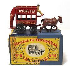 Lesney Models Of YesterYear Horse Bus No.12 Vintage 1:100 Lipton's Tea Die Cast