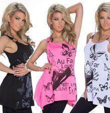 Hippie Damenblusen, - tops & -shirts mit Rundhals-Ausschnitt in Größe 38
