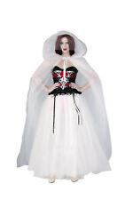 White Tulle Womens Adult Ghost Bride Halloween Costume Long Skirt